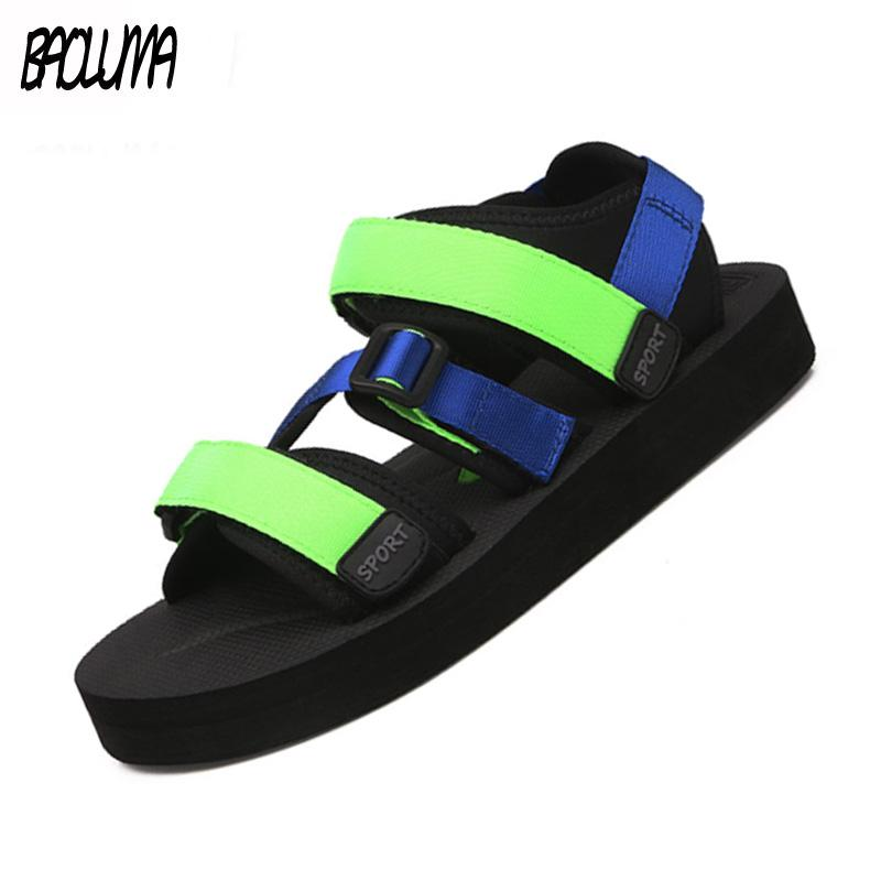 another chance promo code new design Man Women Beach Sandals 2019 Summer Gladiator Men's Outdoor Shoes ...