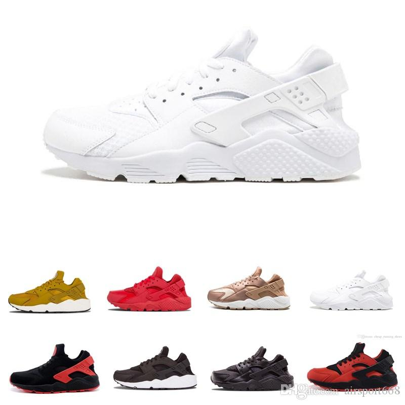 b4ce98a31259 2019 New Huarache Ultra Running Shoes Huraches For Mens Women Black White  Red Colorful Huaraches Designer Shoes Sneakers Athletic Trainers Walking  Shoes ...