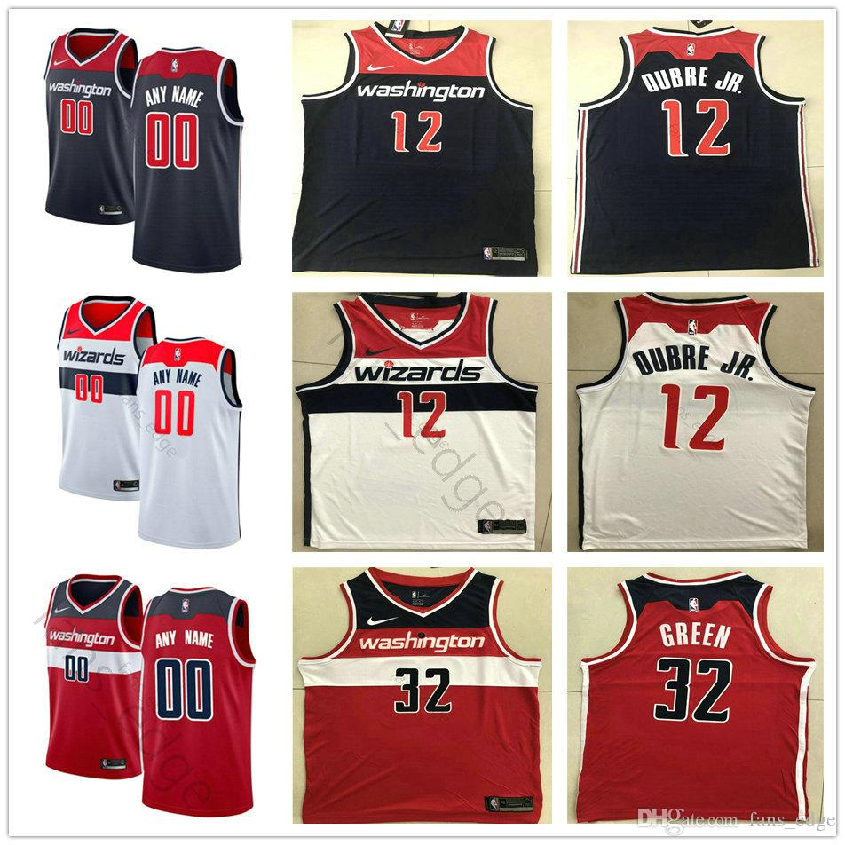 6545ffcaac69 2019 Printed Custom Washington 28 Ian Mahinmi Ron Baker 5 Markieff Morris  14 Jason Smith 31 Tomas Satoransky Wizards Basketball Jersey From  New jersey store ...