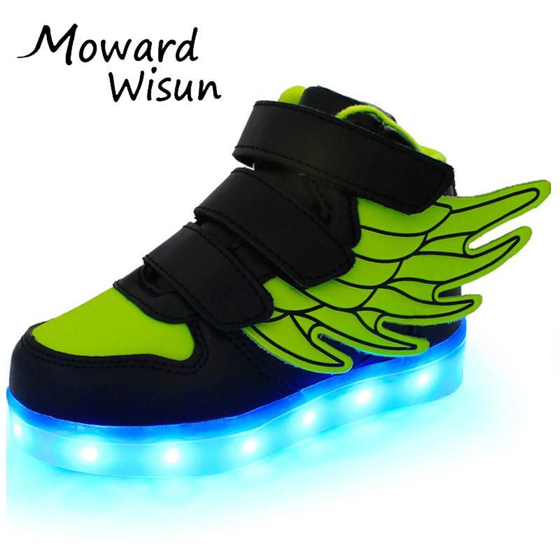 2d866768c51 Compre Zapatos LED Para Niños Cestas Niños Chicas Brillantes Luminoso  Neakers Con Light Sole Enfant Kids Ilumina Zapatillas De Deporte LED  Zapatillas 30 A ...