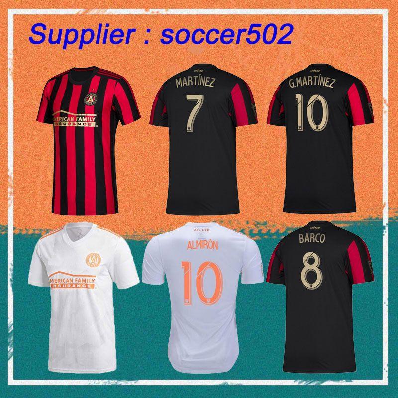 bd5ac9c0649 2019 2019 MLS Atlanta United FC Soccer Jerseys 19 20 Home MARTINEZ BARCO VILLALBA  G.MARTINEZ Soccer Shirt Away White Football Uniform From Soccer502