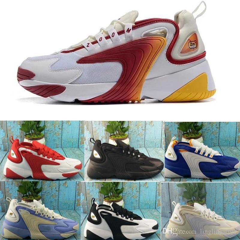 7974cb85ce6a2 Großhandel Nike 2019 New Zoom 2K Sneaker Zoom 2000 Schuhe Schwarz Blau Weiß  Rot Männer Laufen Basketball Herren Trainer Lässige Turnschuhe Chaussures  40 46 ...