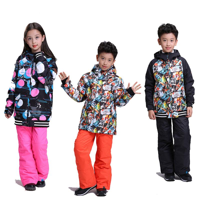 boy or girl Children's Snow Wear Snowboarding Jackets windproof waterproof breathable outdoor sports Skiing Coat Winter Costume