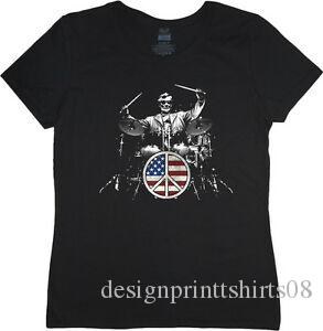Set batteria da donna batterista USA set batteria t-shirt Abraham Lincoln 039 s donna