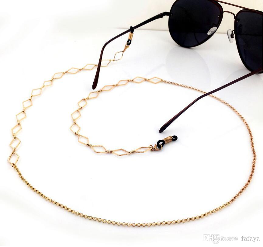 2a456f01a47d 2019 New Fashion Womens Gold Eyeglass Chains Sunglasses Reading Crystal Beaded  Glasses Chain Eyewears Cord Holder Neck Strap Rope From Fafaya