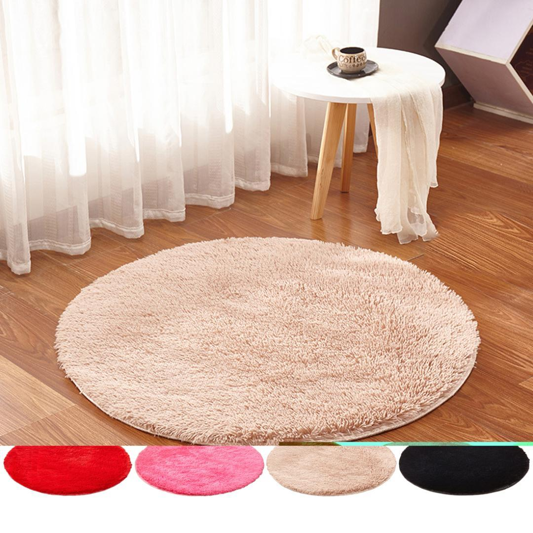 Soft Shaggy Area Rug Living Room Fluffy Round Rug Carpet For Kilim Faux Fur Carpet Kids Room Long Plush Rugs For Bedroom