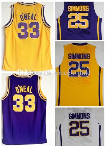 33 O'Neal 25 SIMMONS College Basketball jerseys,College Basketball  wear,University fan shop stores for sale,Trainers Training clothing wear