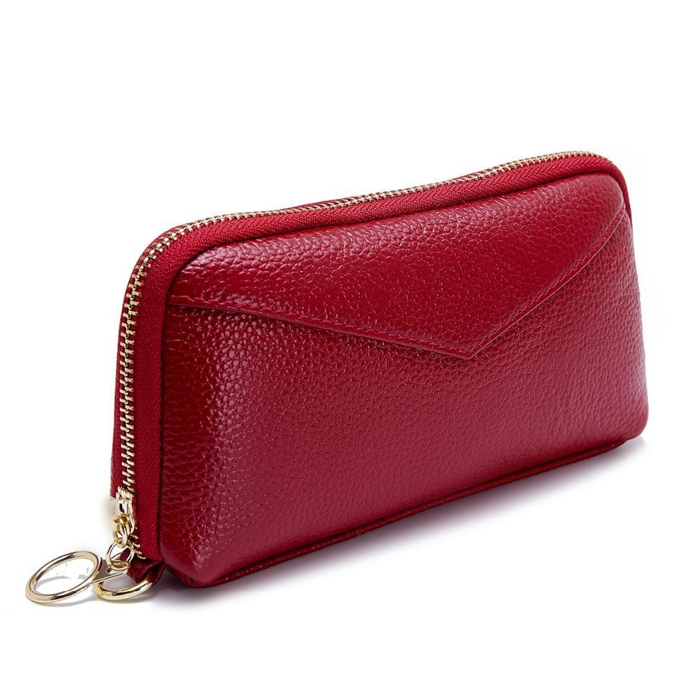 f39e57f8676 M Yancy Women Bags Designer Portefeuille Femme Genuine Leather Clutch Women  Wallets Fashion Long Carteira Feminina Wristlet Bag Black Leather Handbags  Red ...
