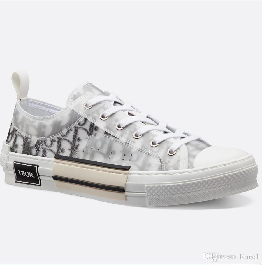 c25bf67892 Donne di marca Oblique tecnico Canvas strutturato Lace-up Sneaker Deigner  uomini bianco nero in gomma bicolore suola scarpe casual