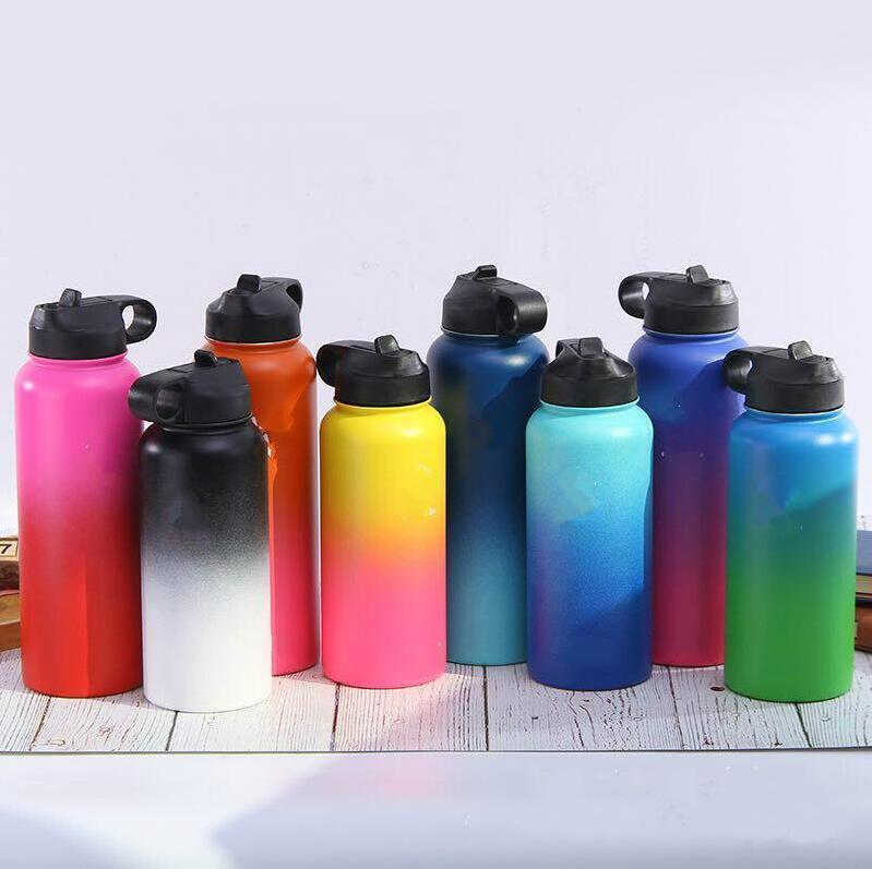 18oz 32oz 40oz Stainless Steel Water Bottle Outdoor Wide Mouth Cup Vacuum Insulated Water Bottle Wide Mouth Water Bottle CCA11228 25pcs