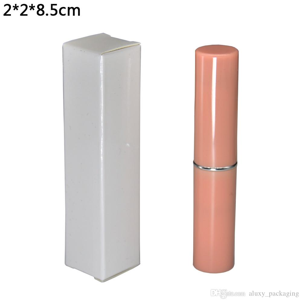 2*2*8.5cm Reflective White Kraft Paper Package Box for Gift Packaging DIY Lipstick Package Paperboard Boxes Foldable Paper Box 50pcs/lot
