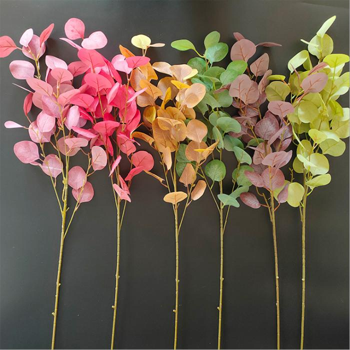 INS artificial flower leaf-shaped silk Eucalyptus leaves American pastoral style wedding Rural countryside wedding decorations home decor