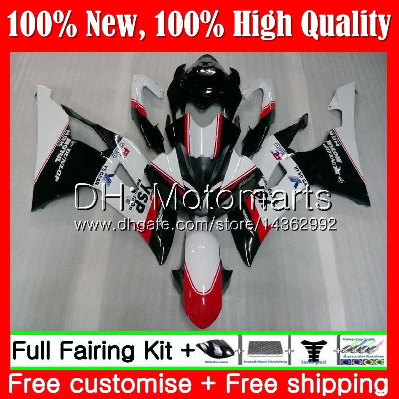 Kit para YAMAHA YZF600 Negro blanco YZFR6 08 12 13 14 15 16 YZF-R600 91MT21 YZF R 6 YZF-R6 YZF R6 2012 2013 2014 2015 2016 Carenado Carenado