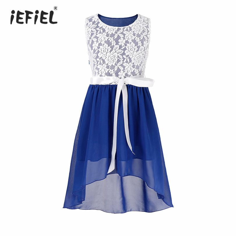 97e445648a3 2019 Iefiel Flower Girls Dress Elegant Vestido Kids Sleeveless Chiffon  Floral Lace Dress Princess Girls Bridal Wedding Party Dresses J190514 From  Tubi06