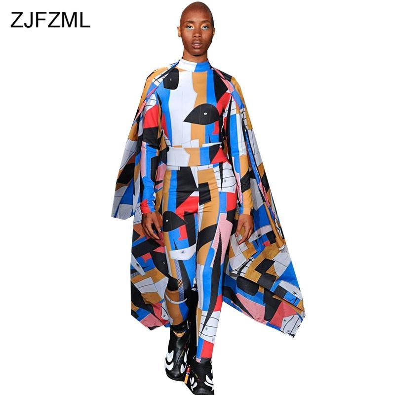 75ed7a601a3f Geometric Pattern Harajuku Skinny Jumpsuit Women Long Sleeve High ...