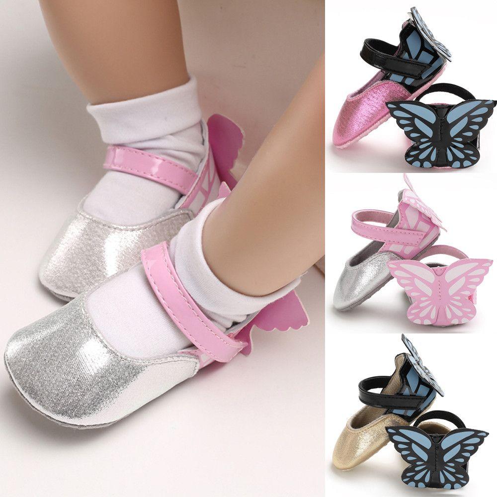 MUQGEW 2018 Hot Sale Infant Newborn Baby Girls Shoe Butterfly Soft ... d4ca1369ed281