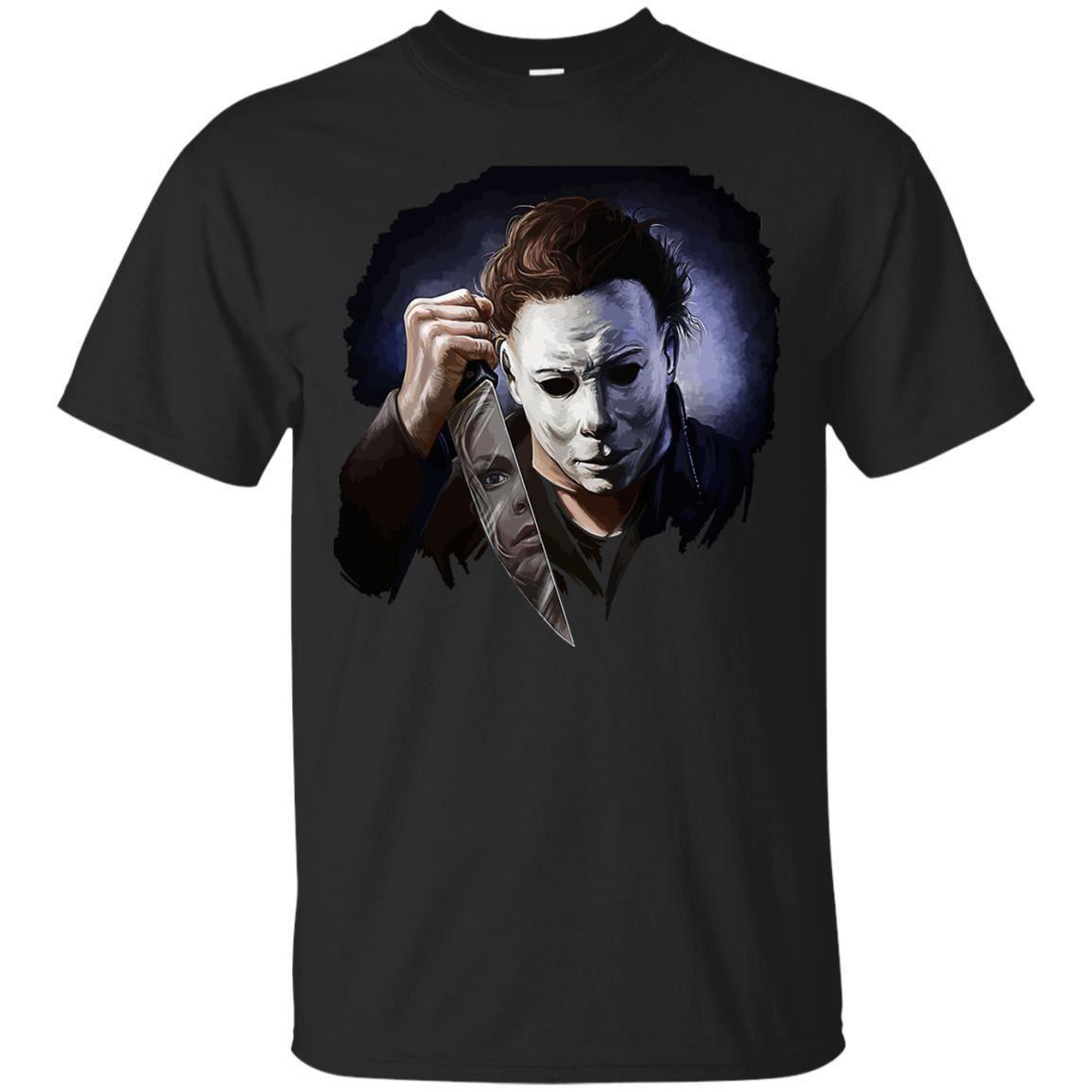 Halloween Michael Myers T-shirt Scare Horror Movie Shirt Short Sleeve Tops S-3XL Brand shirts jeans Print Short Sleeve Plus Size t-shirt