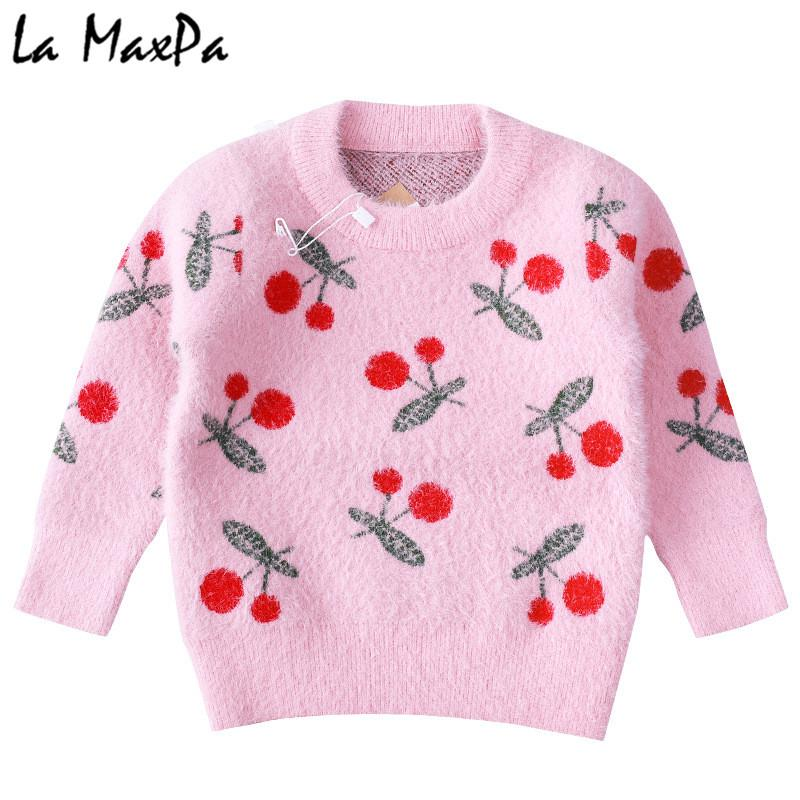 d4eafcfd0a4c Girls Cardigans Baby Girl Clothes Cherry Pattern Girls Sweaters Kids ...