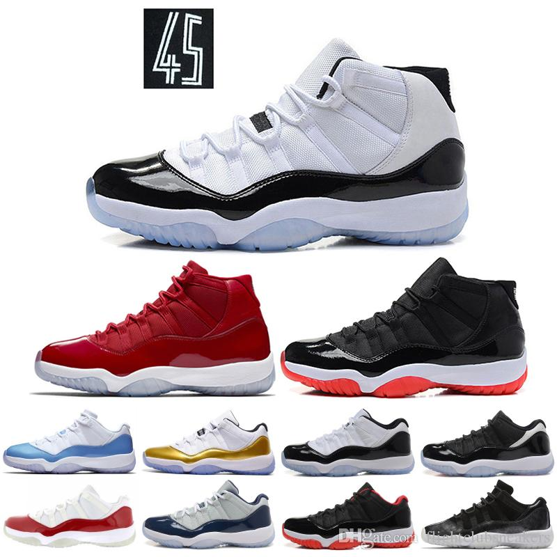 detailed look a2ff4 eb18e New Concord 11 11s Men Basketball shoes Gym Red Win Like 96 Bred Platinum  Tint Legend Blue Designer XI Men Women Sports Sneakers
