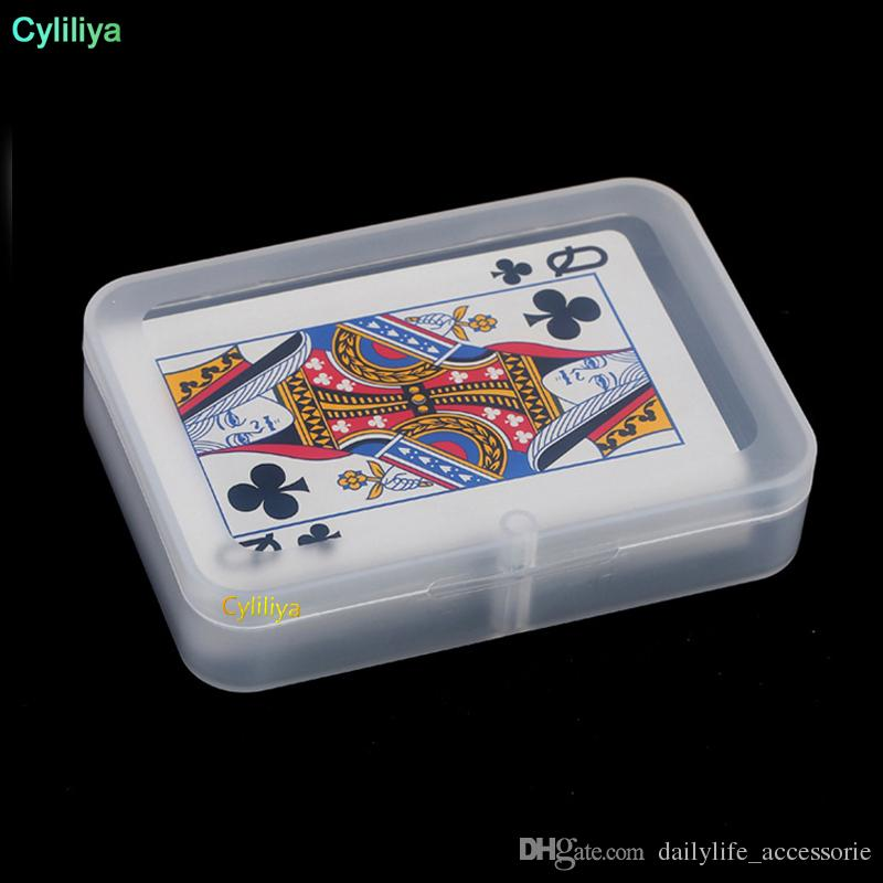 High Quality Transparent Playing CARDS Plastic Box PP Storage Boxes Packing Case (CARDS width less than 6cm) wen4433