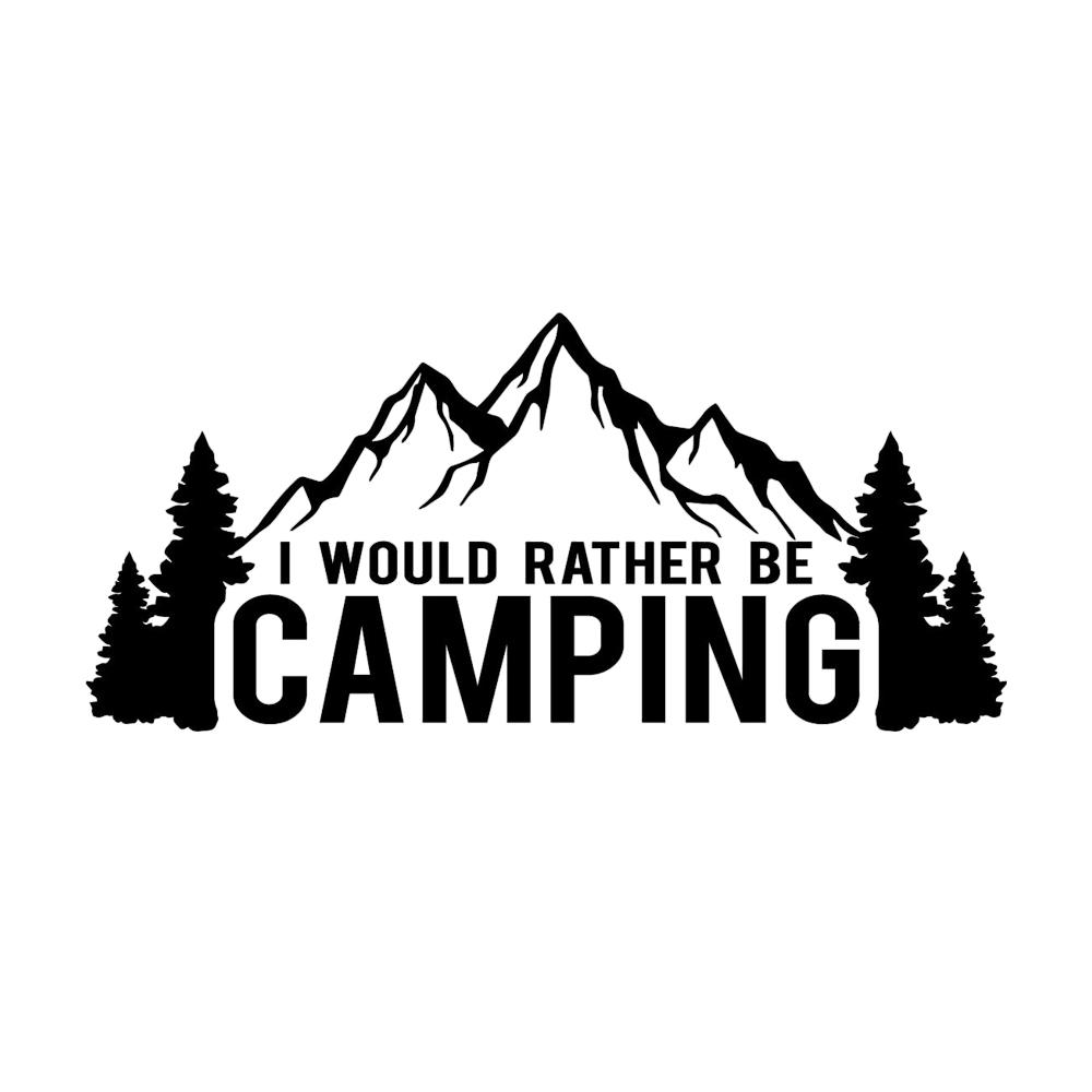 2019 156 8cm i would rather be camping funny decal window bumper sticker car nature outdoor travel car sticker from xymy777 3 02 dhgate com