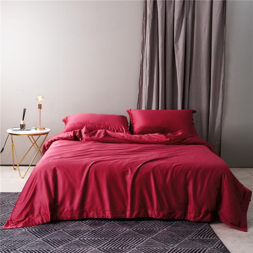Großhandel ägyptische Baumwolle Stickerei Pure Red Queen King 4