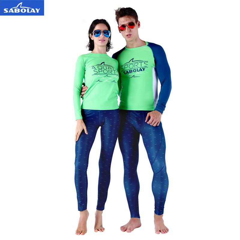 01e4ca3db 2019 Sabolay Men Women Lovers Lycra Surfing Shirts Pants Uv Protection  Couples Rash Guards Water Sports Diving Surfing Snorkeling From  Happy_sport, ...
