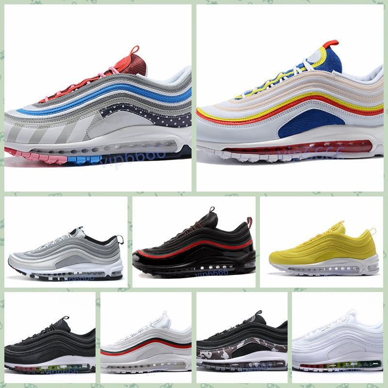 Nike Air Max Original barato Hombres Mujeres Deportes al aire libre zapatos 97 OG NRG 97S SE Plus QS PRM Diseñador de lujo oficial zapatillas de