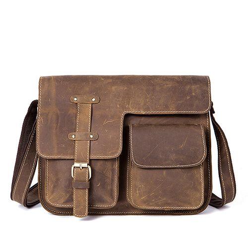 0f2a4613e4 Men S Bags Crazy Horse Genuine Leather Vintage Crossbody Bags For Men  Messenger Bag Men S Shoulder Bag Male 1050 Womens Handbags Handbags From  Fashion710