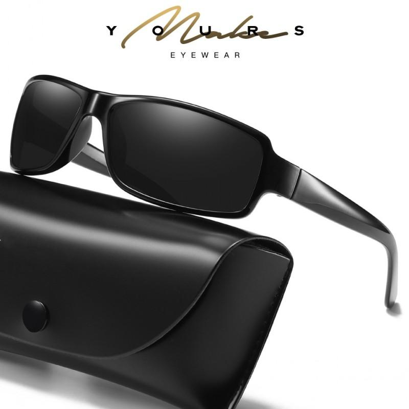 e4dbfa2fe7 Compre HDSUNFLY Diseño De Marca Gafas De Sol Hombre Lente Polarizada TR90  Marco Rectangular Rayos Deportivos Gafas De Sol Para Hombre Gafas De Sol  Oculos A ...