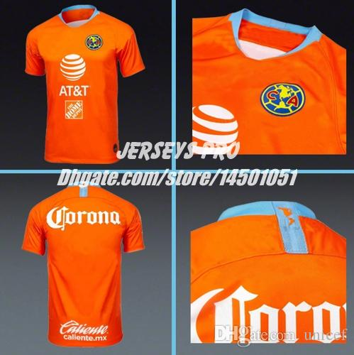 af051a6a4 Camiseta De Futbol Club America 2019 Third 3rd Orange Jersey Naranja ...