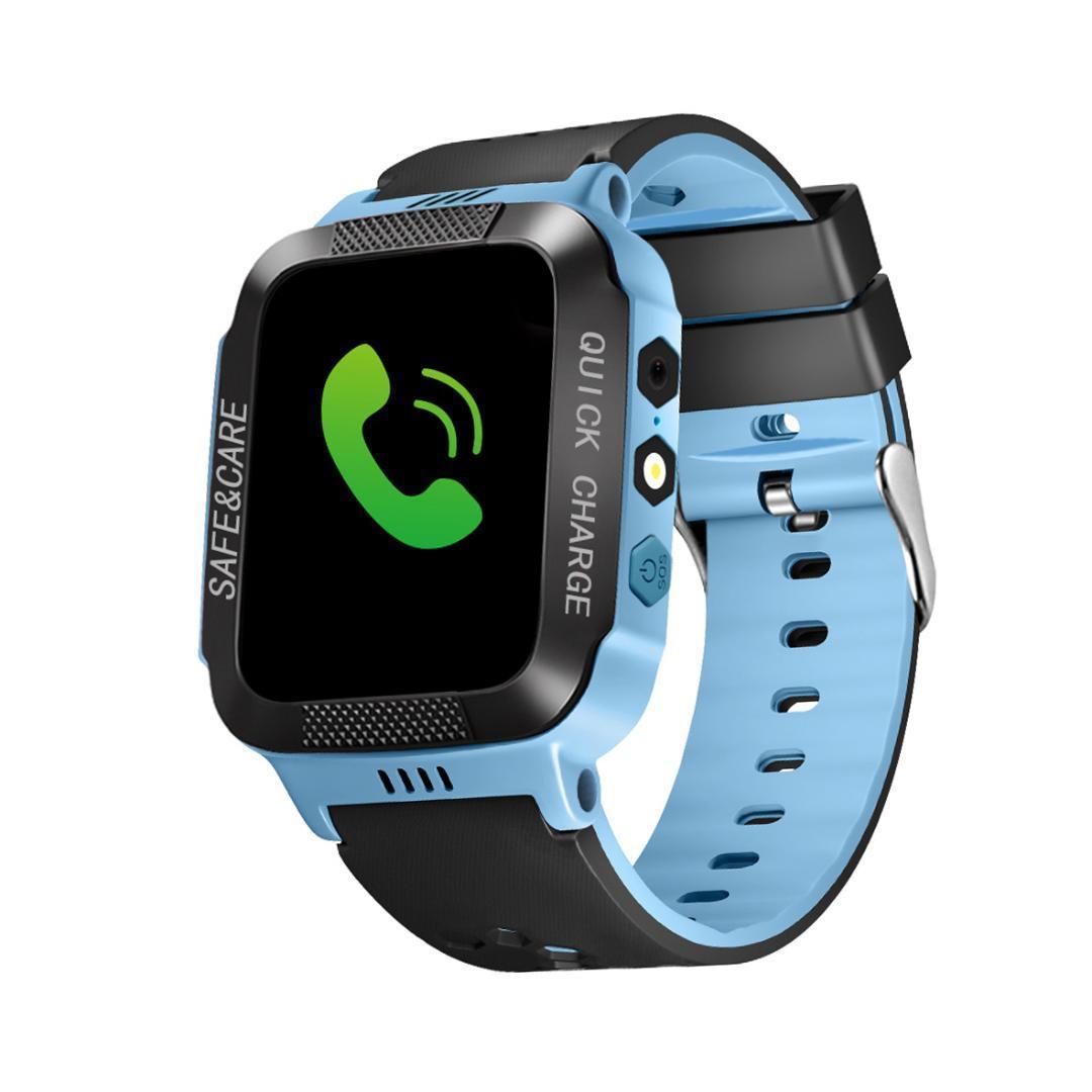d60d0787c7a Compre New Kid Relógio Inteligente Tela Colorida Criança À Prova D  Água  Crianças Inteligentes Relógios Anti Lost Rastreador GPS SOS Chamada Para  IOS ...