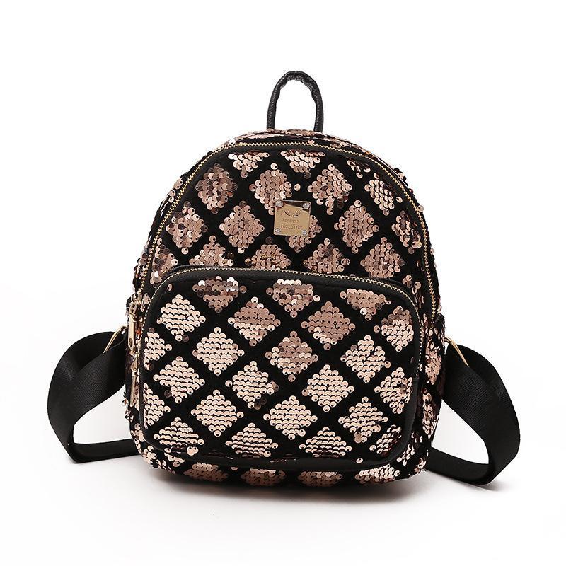 Women Sequin Backpacks Teenage Girls Bling Rucksack School Bag Geometric  Plaid Sequin Female Mini Backpacks For Collage Girls Camping Backpack  Backpacks ... 268b61487159f