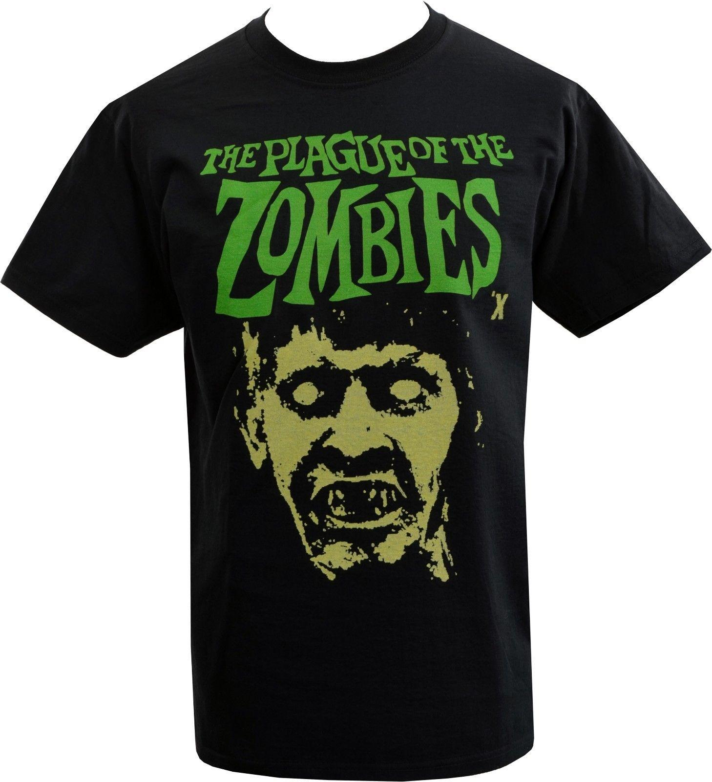 ae2d8834 Sample Sale! MENS T SHIRT PLAGUE OF THE ZOMBIE CLASSIC CULT HORROR FILM  MOVIE M Funny Unisex Casual Tshirt Top Really Funny Shirts Clothes T Shirt  From ...