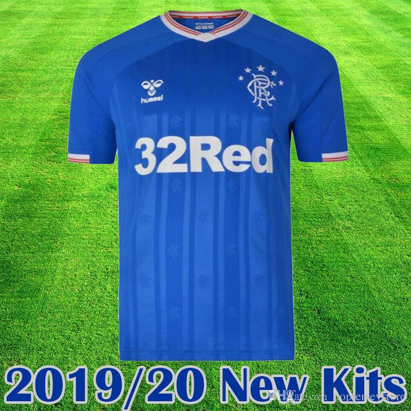 huge discount 366d1 d3eba 2019 New Rangers FC Home Blue Soccer Jerseys 2019 2020 kits Glasgow Rangers  equipment Football Shirt Uniform tops tee Maillot