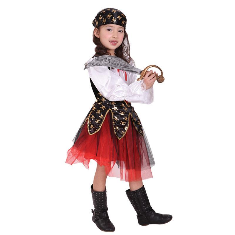8aa94c14b4519 pirate pirate costume for girls christmas halloween costume for kids  children boys child Carnival Party fancy dress child Cosplay