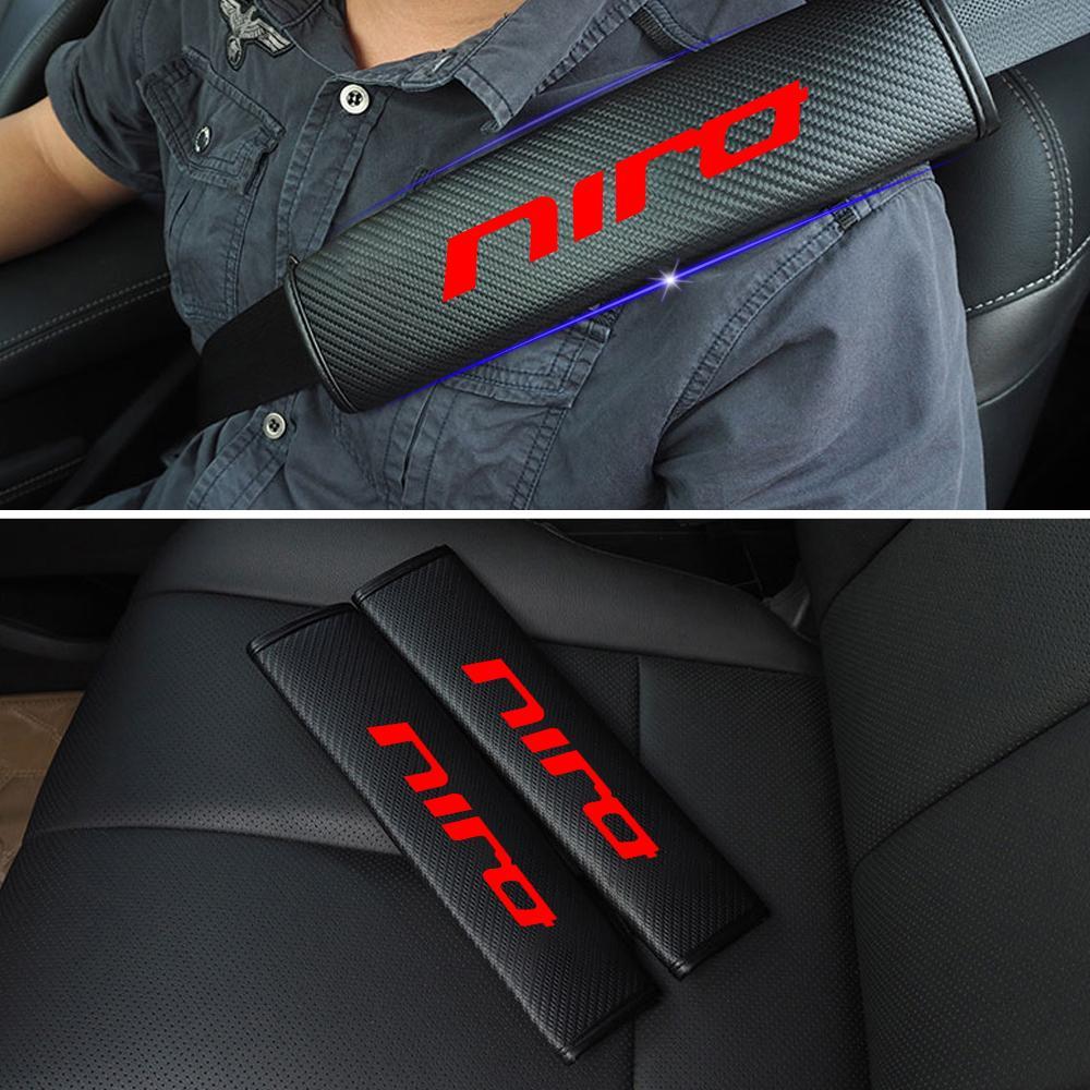 2 pcs AUTO-P Customization Carbon Fiber Seat Belt Cover Shoulder Pad Cushion for Audi Sline