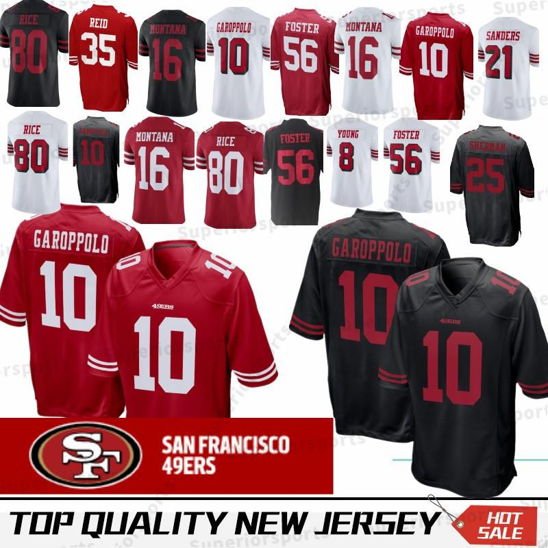 02d9d0b79 2018 10 Jimmy Garoppolo San Francisco 49er Jersey 7 Colin Kaepernick 56  Reuben Foster 16 Joe Montana 80 Jerry Rice Sherman Young Sanders Stitched  From ...