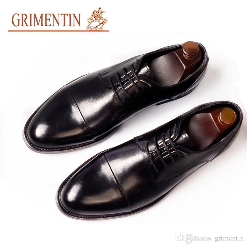 5f4d3a662 GRIMENTIN Hot Sale Formal Mens Dress Shoes Genuine Leather Oxford Shoes  Italian Fashion Business Wedding Party Men Leather Shoes AST Flat Shoes  Online ...