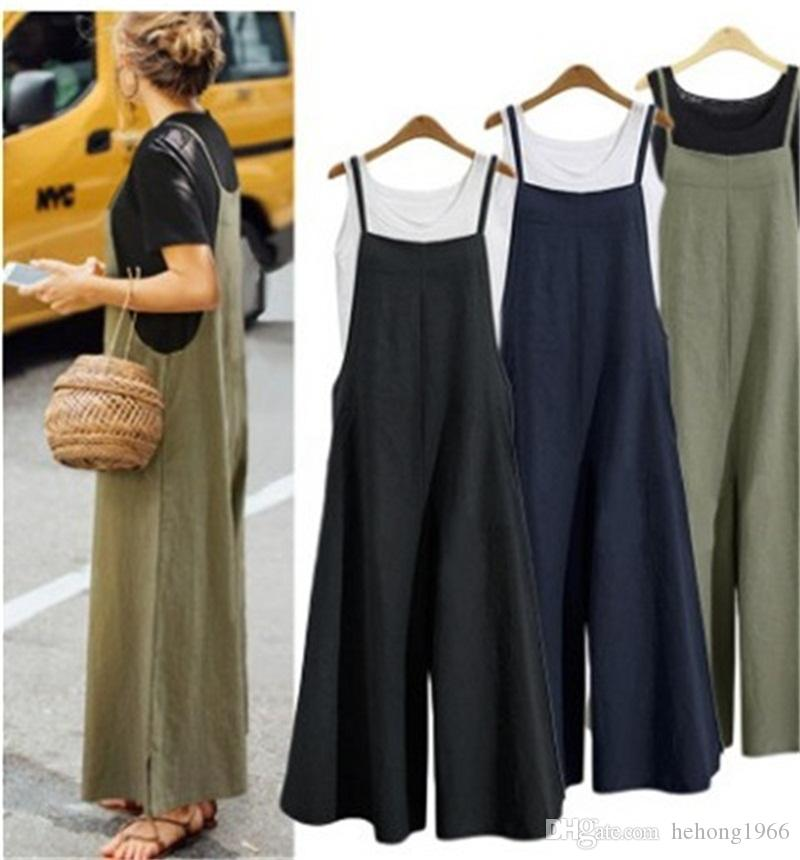 Student Braces Jumpsuit Pure Color Loose Romper Fashion Comfortable Women Summer Home Clothing New Arrival 26hk E1