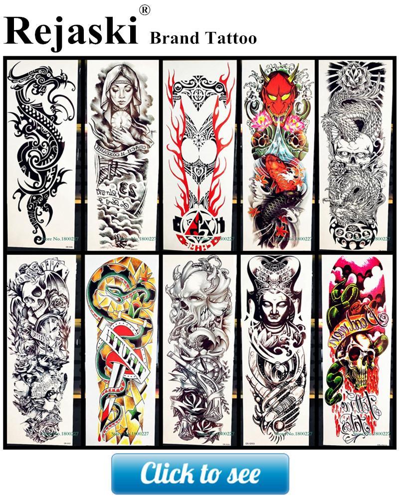 Hot Large Angel Wing Tattoo Sleeve Body Back Art Temporary Tattoo Sticker Waterproof Henna Fake Arm Tatoo Wing Feather S-C51