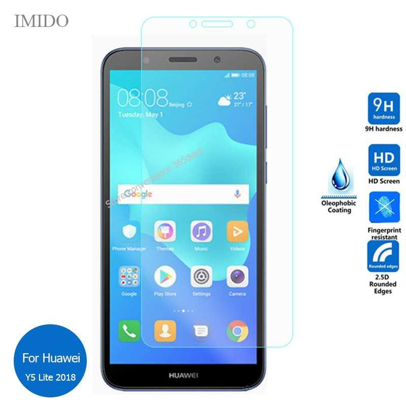 For Huawei Y5 Lite 2018 Tempered Glass Screen Protector 2 5 9h Safety  Protective Film on Y 5 Lite (2018) DRA-LX5 DRA LX5 LX2