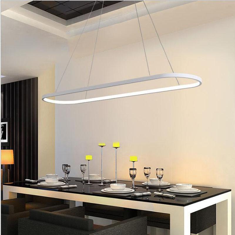 L Post Modern Chandelier Rectangular Dining Room Lamp Simple