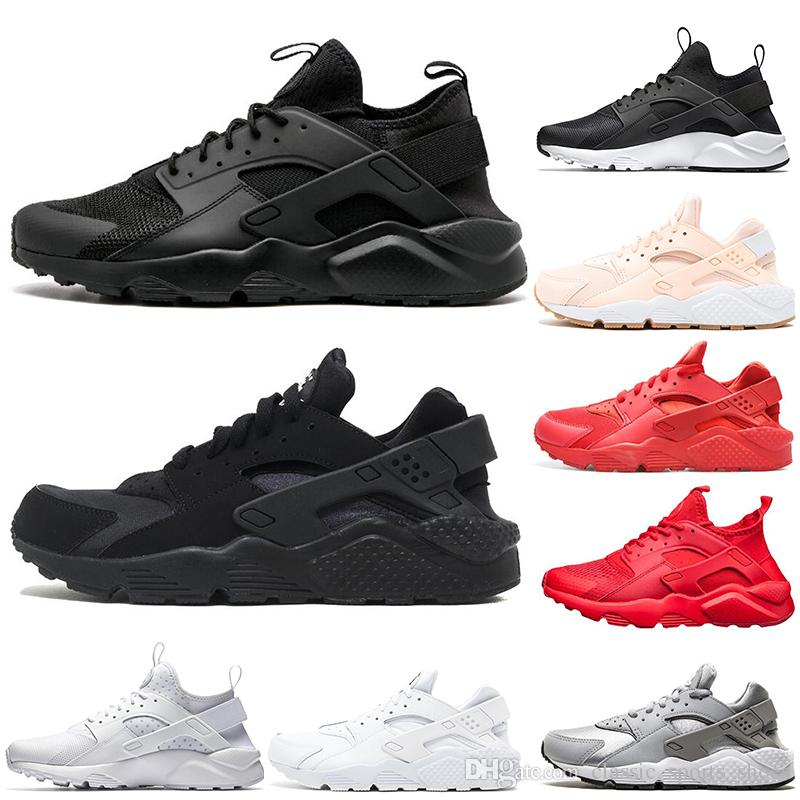 65faebb1c6b8d 2019 2019 Cheap Huarache 1.0 4.0 Running Shoes Men Women Top Quality ...