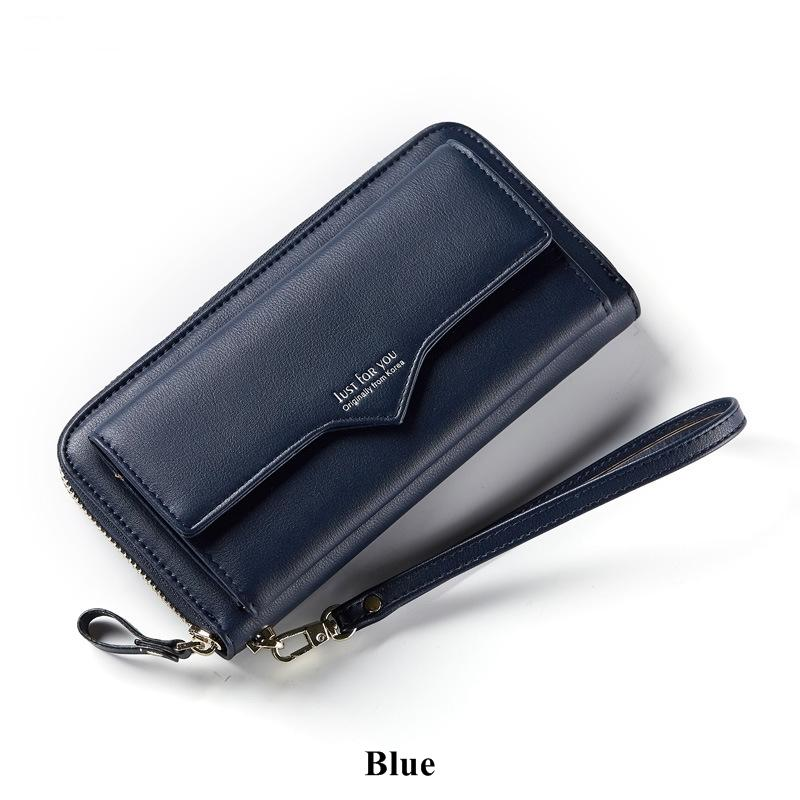 Greenpink Women's Wallets Large Capacity Leather Wristlet Phone Wallet Female Card Holder Coin Purse Ladies Purses and Handbags
