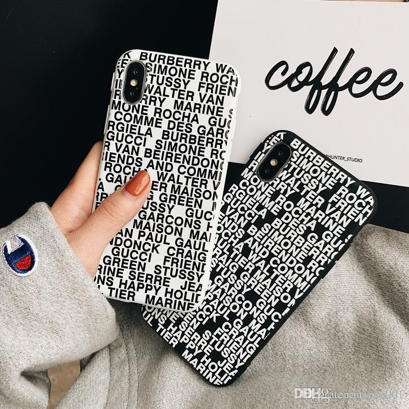 b14fd359118 Personalizar Fundas Movil Código Al Azar Marca De Moda Funda Para Teléfono  Suave Para IPhone 8 8plus Xs Max XR X Contraportada Para Apple Iphone Xs Xr  X ...