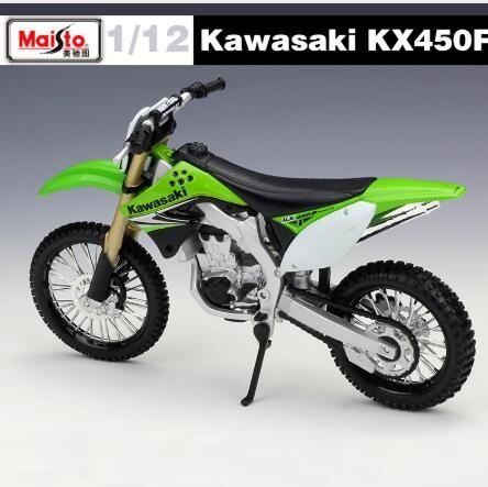 Compre Escala 112 Kawasaki Kx 450f Carrera De Motos Diecast