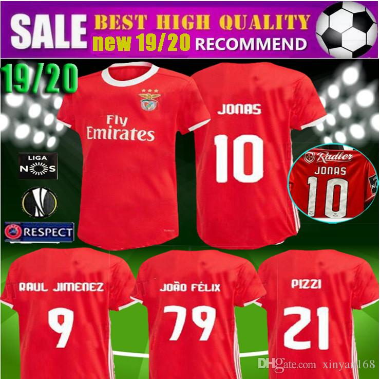 the latest 86067 02d4d new 19 20 Benfica JONAS soccer jersey 2019 2020 HOME AWAY JOAO FELIX RAFA  Pizzi Salvio SEFEROVIC JONAS Raul Jimenez GRIMALDO FOOTBALL SHIRTS