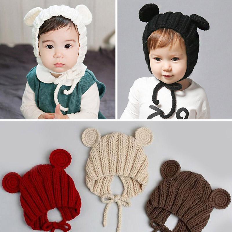 Sombrero de invierno Newbron Baby Sombreros de invierno para niños Niño  pequeño de otoño Niño de punto Sombrero de bebé Apoyos de fotografía ...