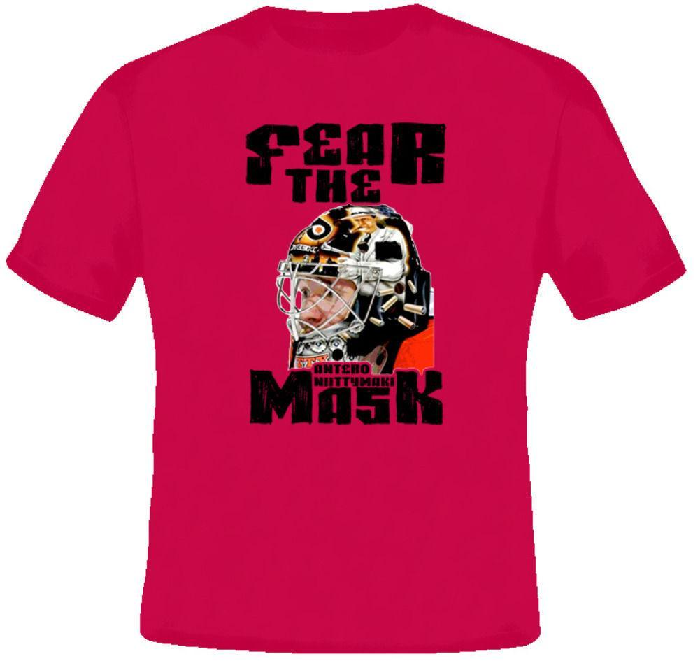 Mens Designer T Shirts Shirt Antero Niittymaki Fear The Mask Hockey